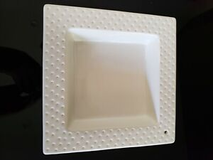 Nora Fleming Square SWISS DOT Serving Dish Napkin Holder Candy Dish MINT COND.