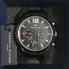 Tommy Hilfiger 1791268 Herrenuhr Multifunktion Leder Armbanduhr schwarz Wie Neu