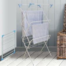 3 Tier Folding Winged Clothes Airer Indoor Outdoor Laundry Washing Drying Rack