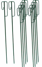 10 Stück Laterneneisen Absperrleinenhalter, grün lackiert Ø14 x 1,23 m