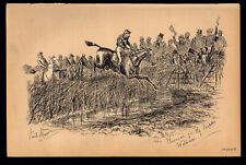 HOOROAR FOR THE PEOPLE'S WILLIAM 1883 Finch Mason Horses LITHOGRAPH