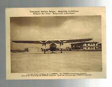 1933 Brussels Belgium to Essen Germany first flight Postcard cover FFC Sabena