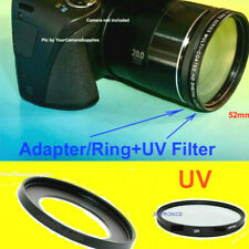 ADAPTER RING+UV FILTER 52mm CAMERA CANON POWERSHOT SX430 IS SX430IS Ultra-Violet