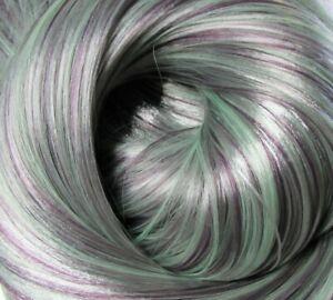 ENCHANTED EGGPLANT Synatra Fiber Doll Hair for Custom Reroots