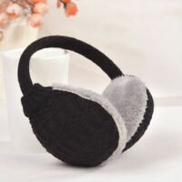Protect Muffs Adult Furry Knitted Warm Ear Cover Earmuffs Washable Removable