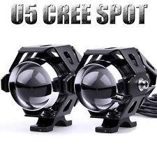 2x 125W Motorcycle CREE U5 LED Driving Fog Spot Light Lamp Headlight For Harley