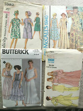Lot 4 Vintage Sewing Patterns 1960s, 1970s 1980s Women's Lounge and Night Wear