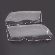 2x Headlight Lenses Clear Cover For BMW E46 3 Series 4DR 320i 325i 325xi 02-05