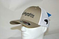 Columbia PFG Bass Flexfit Fitted Mesh Ball Cap Hat in Tusk L/XL *FREE Decal*