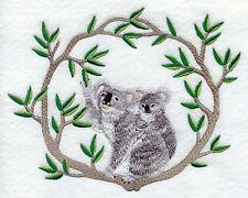 Embroidered Fleece Jacket - Koala Pair M1937 Sizes S - Xxl