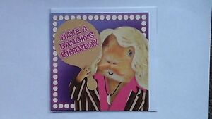 Guinea pig Have a banging birthday card pink by the crazy gang