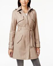 COLE HAAN L - XL Zip Front Trench Coat Dune NEW w/Tags 398.00 msrp Gorgeous
