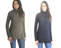 NEW HILARY RADLEY WOMEN'S COWL NECK SWEATER - INDIGO MIX - VARIETY