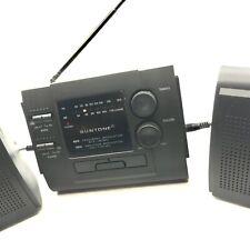 Vtg Suntone AM/FM Radio Mini BoomBox System Detachable Speakers. Used, Great Con
