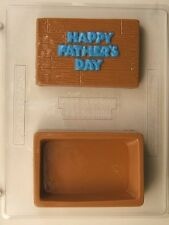 HAPPY FATHERS DAY POUR BOX CHEST CLEAR PLASTIC CHOCOLATE CANDY MOLD F013