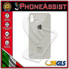 VETRO POSTERIORE SCOCCA OEM Apple iPhone X Back Cover BIANCO ARGENTO SILVER
