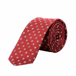 HUGO BOSS Homme Rouge @ Imprimé 100% Soie Cravate
