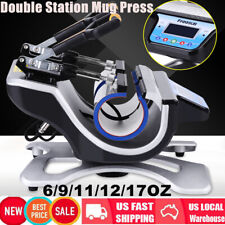 Freesub Automatic Double Mug Heat Press St 210 Sublimation Transfer Printing New