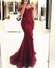 Crystal Formal Evening Dress Mermaid Celebrity Pageant Party Prom Gown 2 4 6 + +