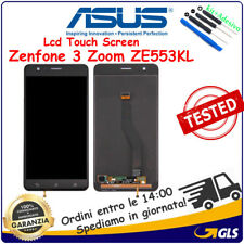 DISPLAY LCD VETRO TOUCH ASUS ZENFONE 3 ZOOM ZE553KL Z01HDA NERO ORIGINALE