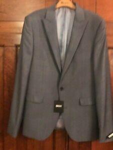New Mens DKNY 40L Wool 70% Blue Jacket Blazer £189 BNWT
