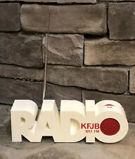 Vintage Kfjb 101.1 Fm Country Hippie Eames Am-Fm Isis Transistor Radio 20