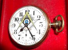 Masonic On Dial Runs Buren Watch Co 21J 16Size