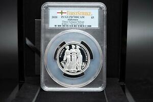 2020 Silver Proof Alderney Mint Three Graces £5 P70 with COA & Presentation Box