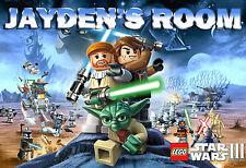 061 LEGO STAR WARS LUKE SKYWALKER YODA CUSTOMIZED DOOR ROOM POSTER