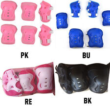 6 Pcs Set Kids Wrist Elbow Knee Pads Sports Gear Roller Skating Protector Guards