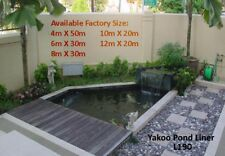 Fish Pond Liner 10mX12m L190 Reinforced HDPE HeavyDuty 20YrsGuaranty Landscaping