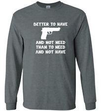 Gun Owner T-shirt Long Sleeve Tee 2nd Amendment Decal Gifts for Men gun rights