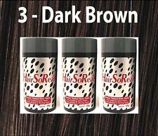 HSR HairSoReal HAIR LOSS CONCEALER Fibers Dark BROWN 3 Pcs Get Rid of Bald Spots