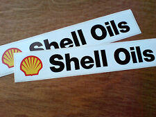 SHELL OILS Large Race Rally Classic Vintage Retro Stickers Decals  2 off 280mm
