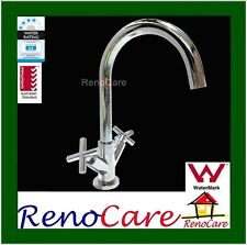 DELUXE WELS 1/4 Turn Solid Brass Chrome Sink Kitchen Mixer Tap RC-2304
