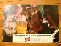 1966 Schlitz Beer Ad  Out of Beer?