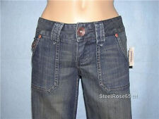 NEW Aeropostale Junior Girls Avery Wide Leg Low Rise Blue Jeans Size 0 S