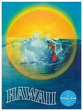 "Art Hawaii Travel Poster Vintage Rare Hot New 12x18"" TR96"
