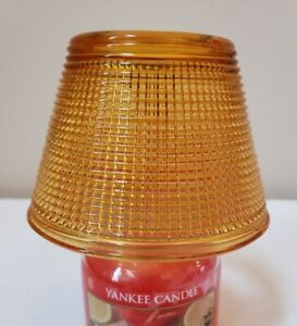 New YANKEE CANDLE Gold Glass SHADE for Jar Candle   Fits Small Jar Candle