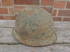 #H Original US Army WW2 M1 Stahlhelm helmet Glocke gebördelter Rand Kinnriemen