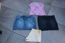 Ladies size 16 clothes bundle denim skirts, shorts top