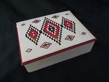 Ancienne boite à cigarette ou cigare , vide, briquet, Seita décor géométrique