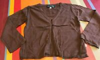 Gilet cardigan JEAN BOURGET 4 ans, coton, couleur marron chocolat, val 40€