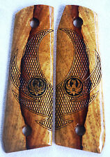 RUGER 22/45 MKIII SPALTED BRAZILIAN CHERRY EAGLE WINGS & DIAMOND CHECKING R-2