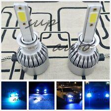H1 Cree Led Headlights Bulbs Conversion Kit High Low Beam Fog Lights 8000k Blue