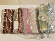 """1940s 1950s Blankets 66"""" X 68"""", 48"""" X 27"""" and 64"""" X 62"""". Lot of three"""