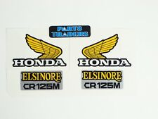 Side Panel and Gas Fuel Tank Wing Decal Kit Honda Elsinore CR125M CR 125 1974
