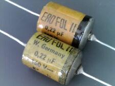 2 pcs NOS Roederstein EROFOL II 0,22uF 220nF 220000pF 160V- HQ CAP