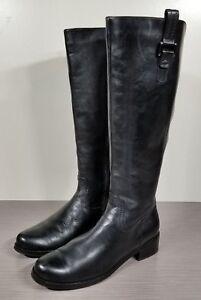 Blondo Black Leather 'Velvet' Waterproof Riding Boot, Womens Size 8 M