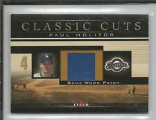 Paul Molitor 2002 Fleer Game Used Jersey Patch PMP Brewers